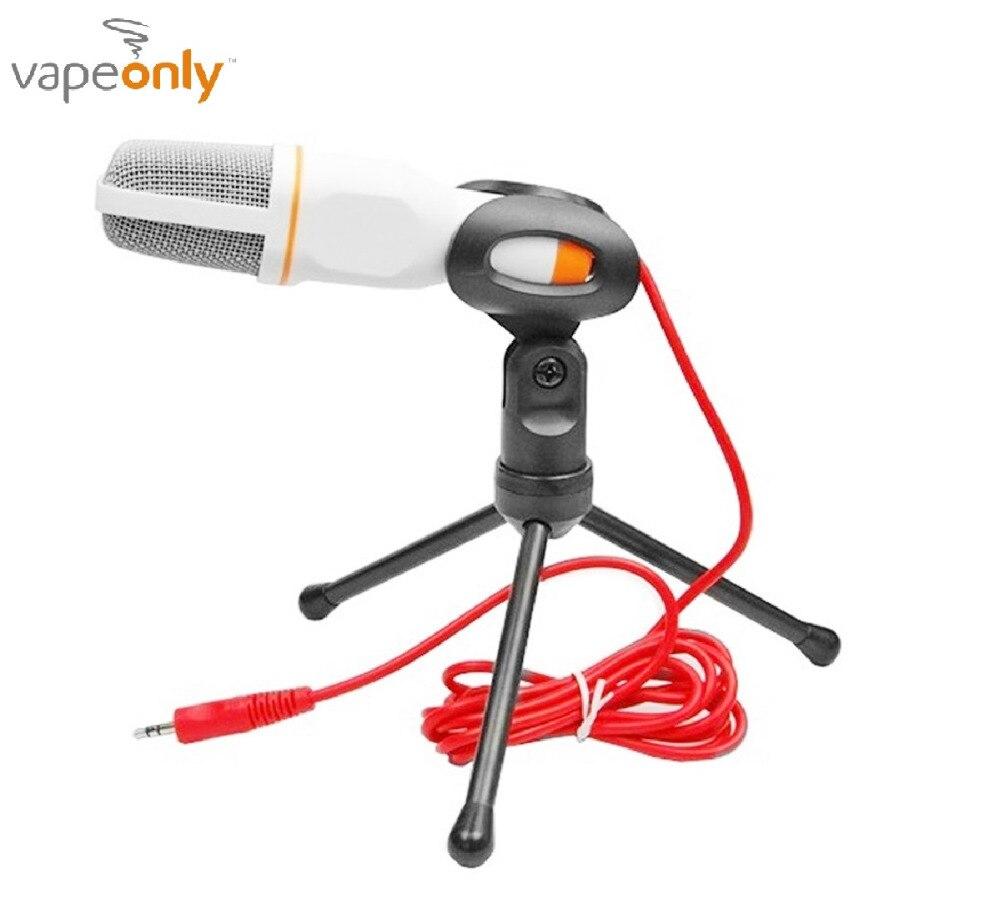 Vapeonly Microfono A Condensatore 3.5mm Wired Desktop Broadcasting Studio Microfoni w/Mini Treppiede Mic per il Calcolatore Del PC Smartphone
