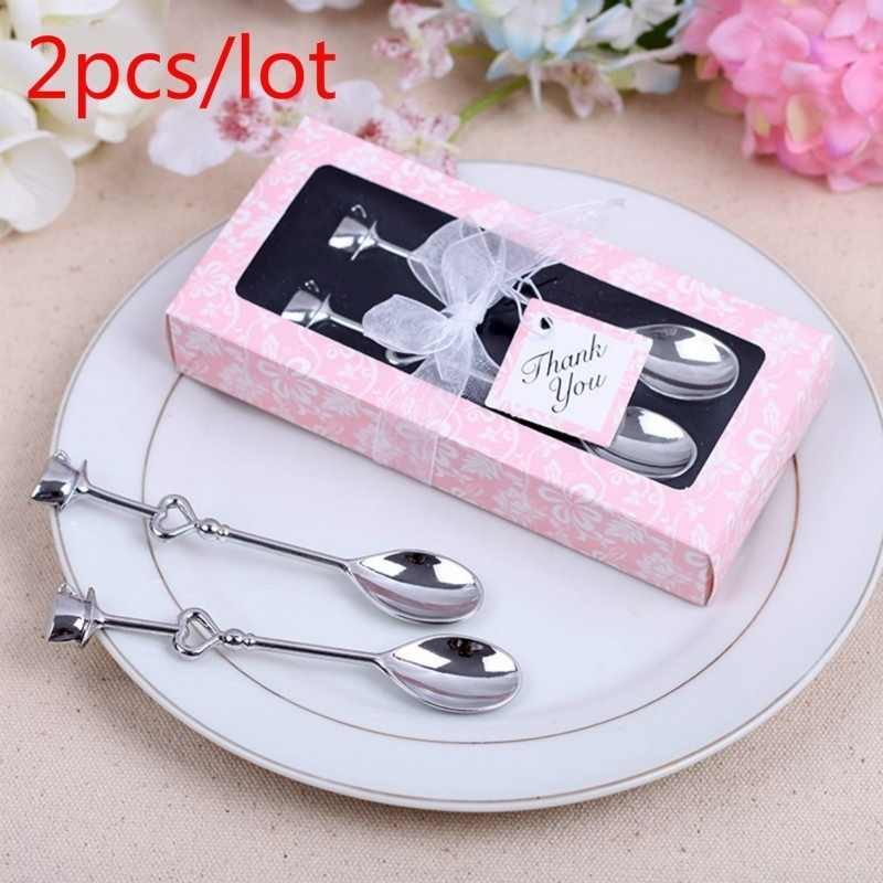 2pc/lot Couple Coffee Spoon Wedding Favors and Gifts Wedding Gifts for Guests Wedding Souvenirs Event & Party Supplies