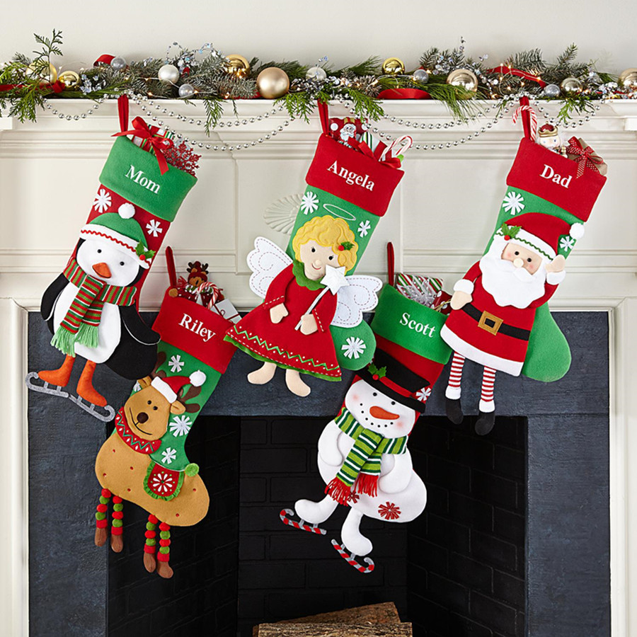 Christmas Stocking Santa Socks Christmas Gift Bags For