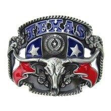 Лонгхорн бык Техас пряжка для ремня в западном стиле