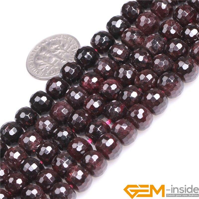 "Natural Red Garnet Gemstone Beads For Jewelry Making Loose Beads Strand 15/"" DIY"