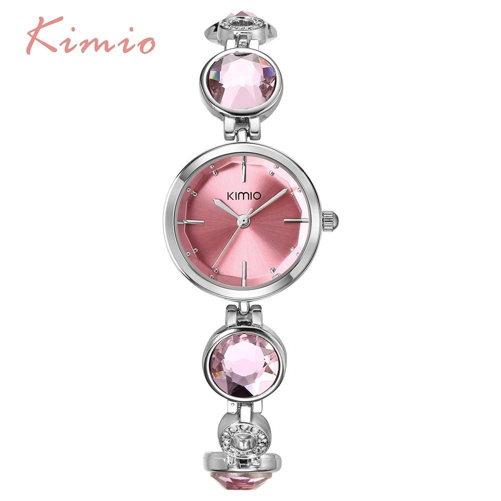 KIMIO Fanshion Quality Crystal Diamond Bracelet Quartz Watches Woman Watches 2018 Brand Luxury Ladies Wrist Watches For Women