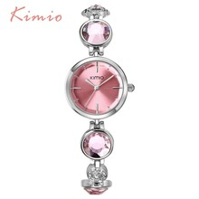 2015 luxury women bracelet watches high quality brand watches KIMIO quartz watches