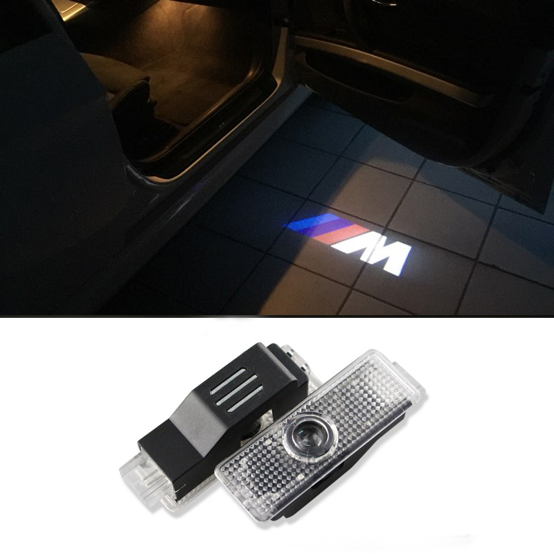 LED Car Door Courtesy Laser Projector Welcome Logo Ghost Shadow Light For BMW M Performance E60 E63 E90 E92 E93 X1 X3 X6 M3 M5 new 2pcs pair high power led ghost shadow light logo projector vehicle door courtesy laser for bmw brand car styling logo design
