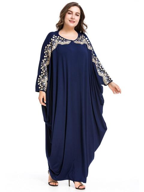 Long Muslim Dress Loose Islamic Abayas Dubai Women Clothing Turkish Kaftan Turkey Arab Robe 3