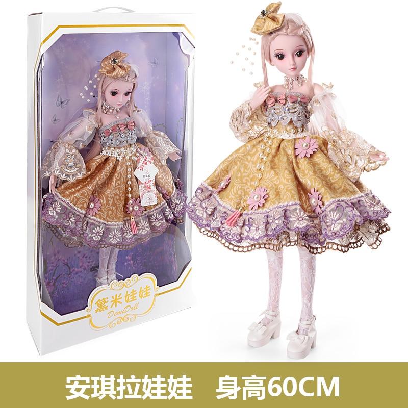 BARBIE 1/3 BJD Doll 19 Moveable Joint Body Princess Dress Doll 60cm Partydress Wedding Design Dress Kids Toys Girl Birthday Gift