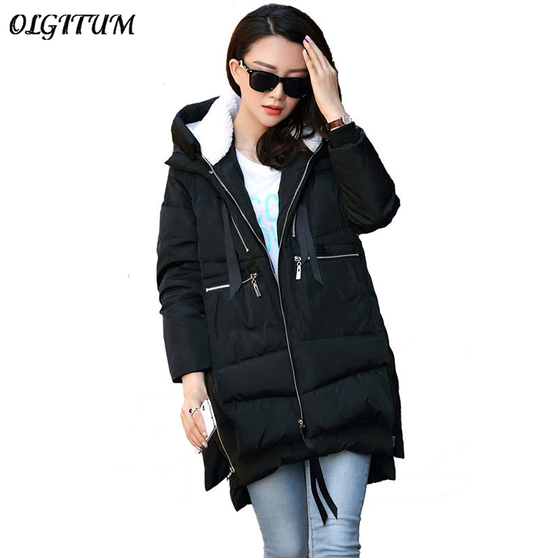 M-5XL 2019 Winter Women Parkas Coats Female Jacket Plus Size Thickening Wadded Casual Loose Pregnant Women Thick Coat Outwear