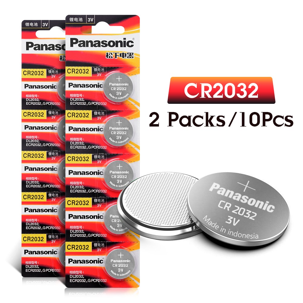 10pcs brand for PANASONIC cr2032 DL2032 ECR2032 5004LC KCR2032 BR2032 3v button cell coin lithium batteries watch