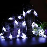 4 5M 40 LED Hallowen Ghost String Lights Battery Powered Decoration Lights With Remote Control For