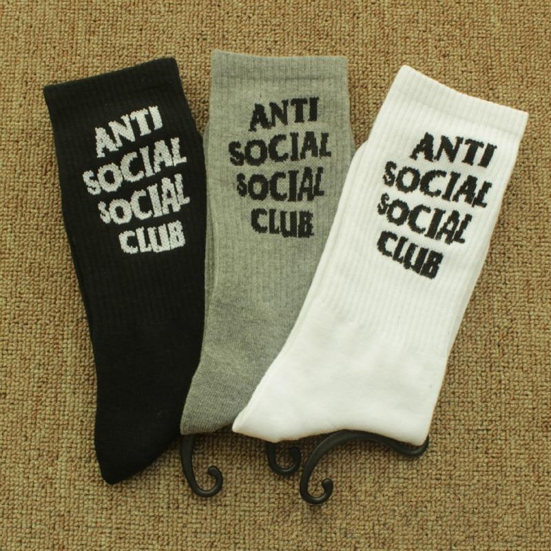 European and American fashion personality ANTI SOCIAL SOCIAL CLUB Alphabet socks men and women fashion wild casual cotton socks
