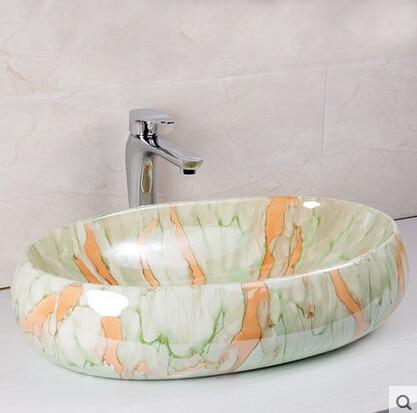 Crystalline Glaze Ceramic Art Basin Sink On Taichung Basin To The Basin  That Wash A Face Basin Circle  In Plastic U0026 Portable Basins From Home U0026  Garden On ...