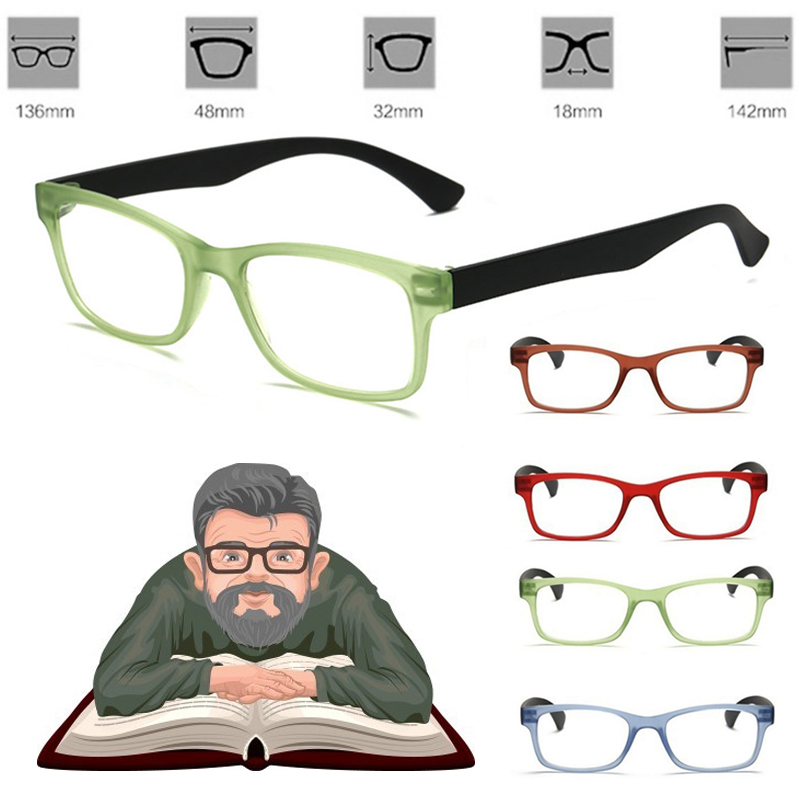 Lightweight Glasses 100-400 Degree Vision Magnifying Glass Unisex Eyewear Magnification For Needle Reading Magnifier Watching