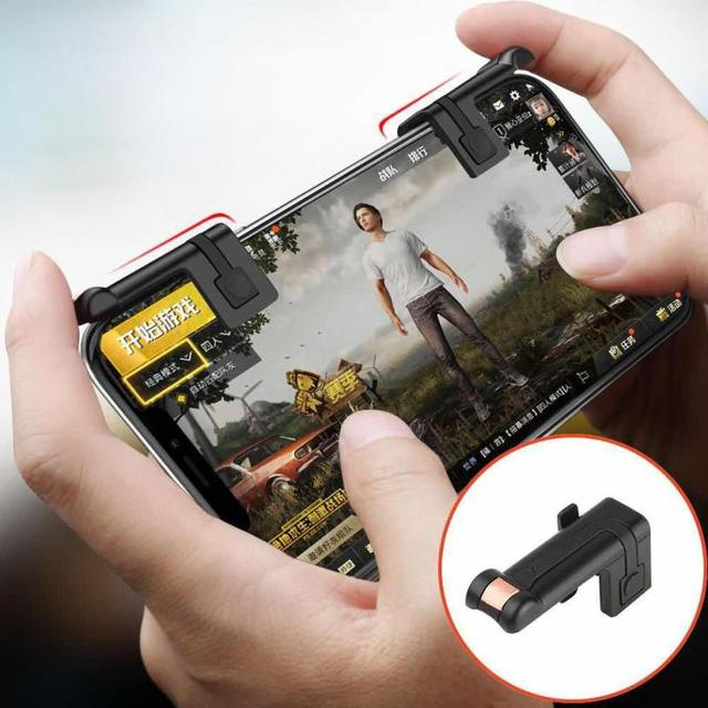 buy online 63da5 93afd US $1.99 |Phone Mobile Gaming Trigger Fire Button Handle for L1R1 Shooter  Controller PUBG gamepad joystick for samsung galaxy s8 /iphone -in Cases ...