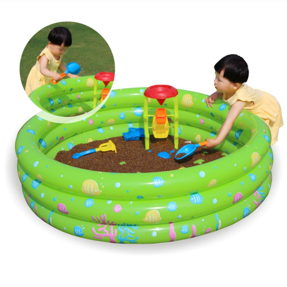 MrY Baby Kids Swimming Pool Round Inflatable Pool Safety Frame Floating Thickened Ocean Ball Infant Pool Water Play