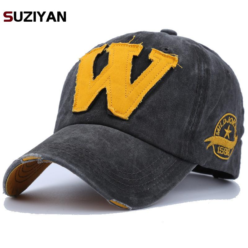 Style Embroidery Letter W   Baseball     Cap   Men Dad Women   Caps   Bone Hats Fashion Vintage Gorras Letter Cotton   Cap