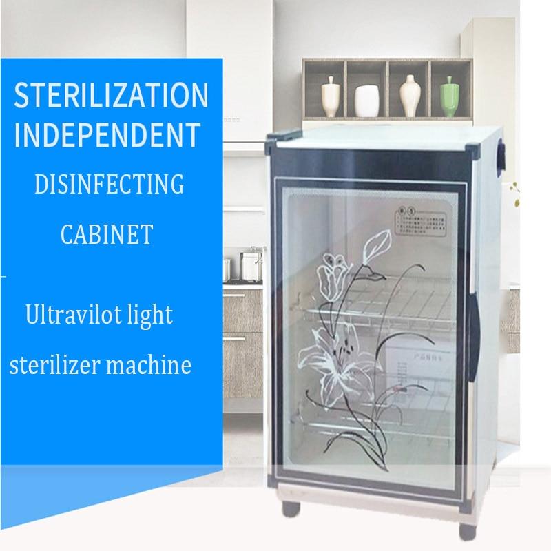 Accueil Mini Électrique Ultraviolet Stérilisateur Vaisselle Vertical Désinfection Cabinet 68L Placard Thé Vaisselle Désinfecteur