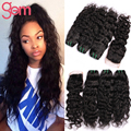 6A Brazilian Water Wave Virgin Hair 3 Bundles with Closure Maxine Hair Brazilian Wet Wavy Hair with Lace Closure Rosa Curly Hair