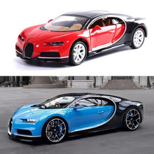 1:32 Scale Toy Car Bugatti Chiron Metal Alloy Sports Diecasts Vehicles Model Miniature Toys For Children Kids Collection