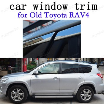Car Exterior Accessories Decoration Strips Stainless Steel Window Trim for Old Toyota RAV4 without column image