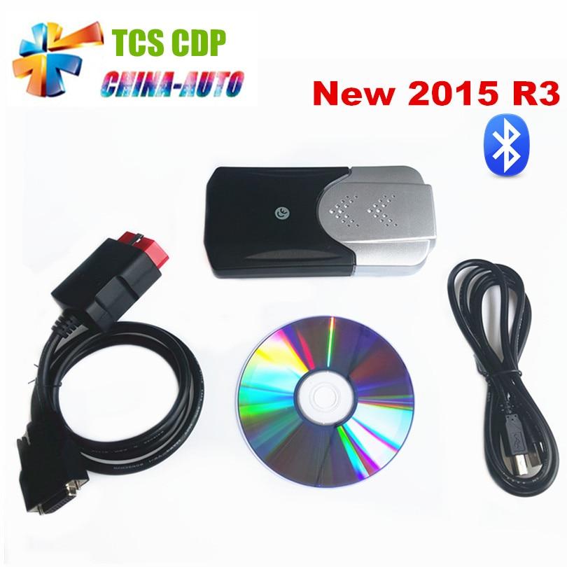 все цены на Newest vci 2016.00/2015.03+Keygen with bluetooth obd2 OBDII mvd car scanner tcs CDP Pro Plus For cars trucks 3in1 онлайн