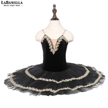 Black Swan pre-professional ballet tutu kids costume contemporary dance costumes child girlsBLST18085