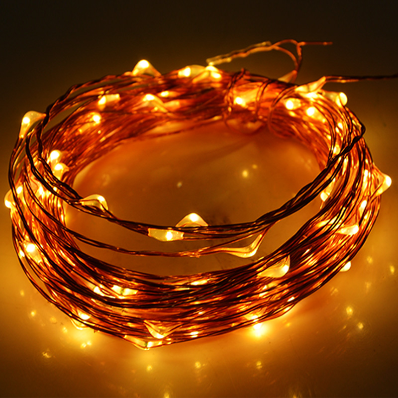 com buy colors m copper wire led string light com buy 3 colors 10m copper wire led string light 33ft 100 led christmas fairy lights starry lights us plug adapter for decoration 31 from