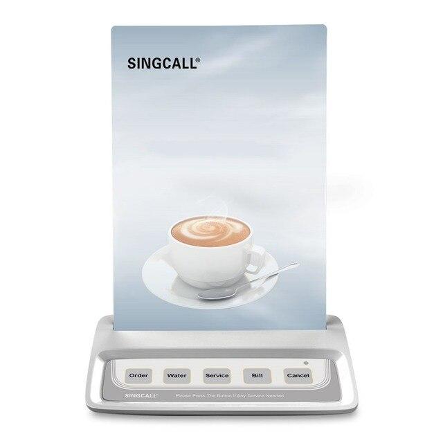 Кнопка вызова официанта, белый пейджер вызова с 5 кнопками развлекательных мест