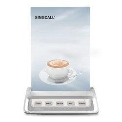 Botão da chamada do garçom do sistema de chamada de singcall, pager branco da chamada com 5 teclas dos lugares do entretenimento botões