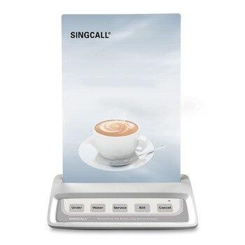 SINGCALL система вызова кнопка вызова официанта, белый пейджер вызова с 5 клавишами развлекательных мест кнопки