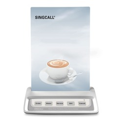 SINGCALL Calling  System waiter call button, white call pager with 5 keys entertainment places buttons