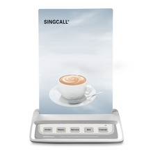 SINGCALL sistema de llamadas botón de llamada de camarero, buscapersonas de llamada blanco con 5 teclas botones de lugares de entretenimiento
