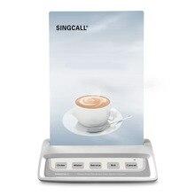 Singcall hệ thống gọi điện thoại nút gọi bồi bàn, trắng cuộc gọi máy nhắn tin với 5 phím nơi vui chơi giải trí nút