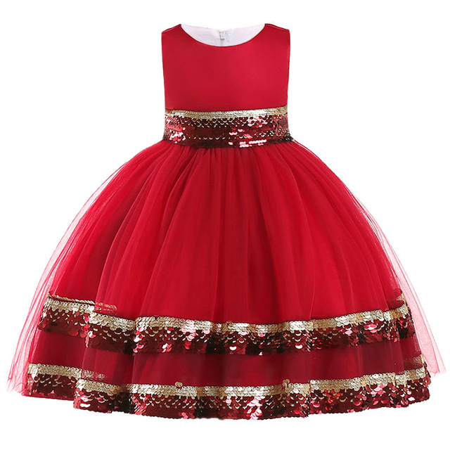 88e72f763 Party Dress Kids Infant Girl Flower Petals Dress Children Bridesmaid ...