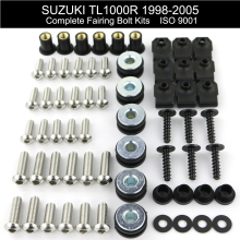 For Suzuki TL1000R 1998-2005 Complete Fairing Bolts kit Covering Bodywork Screws Speed Nuts Stainless Steel nicecnc complete cnc fairing bolts kit bodywork screws nut for suzuki sv650 sv650s sv1000 sv1000s rgv250 rf600r rf900r