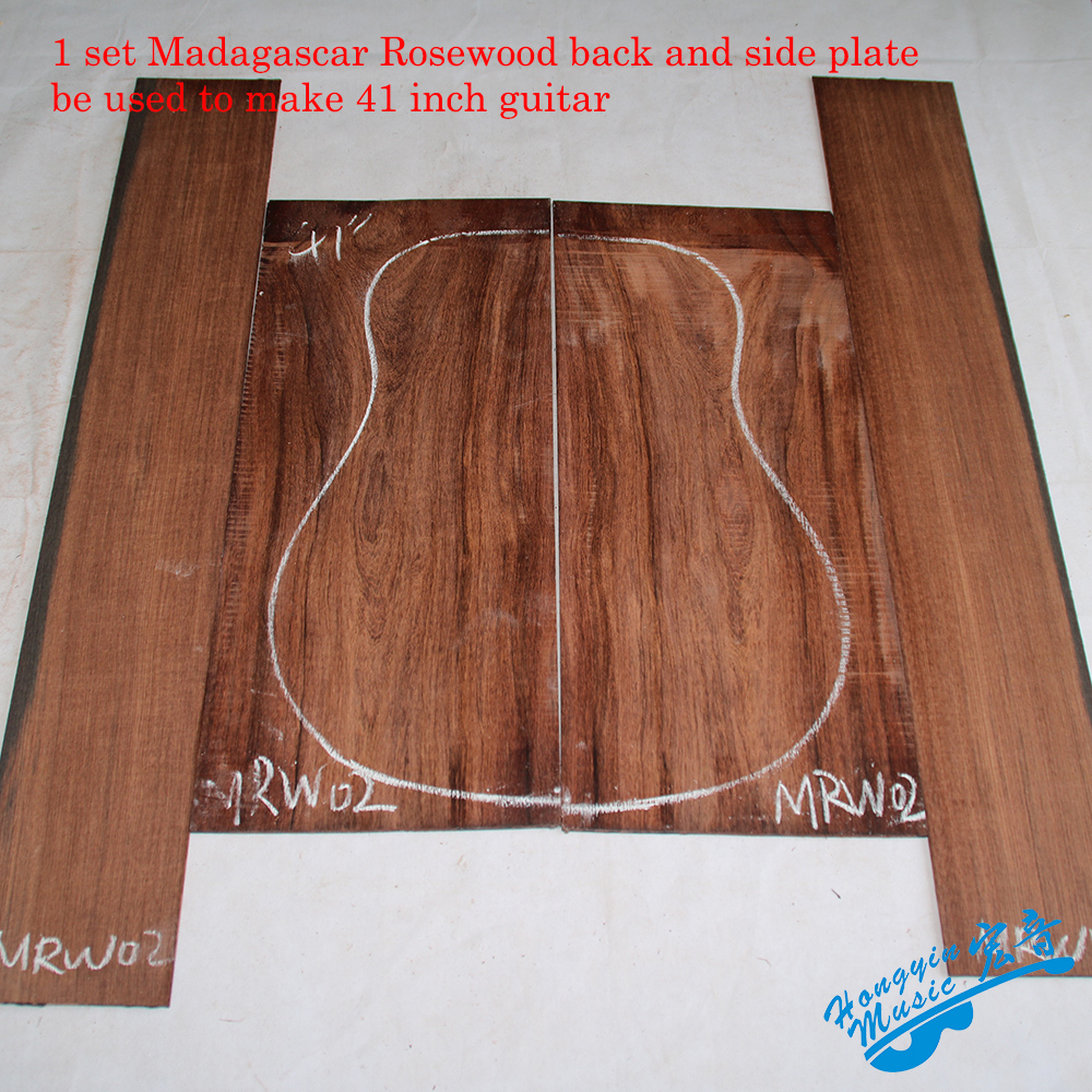 1Set Madagascar Rosewood Veneer Guitar Back And Side Plate High Quality Guitar Panel Guitarra Making Material Make 41inch Guitar 41inch sapele veneer wood guitar veneer acoustic guitar technique of lacquer bake dumb light suitable for teaching performance