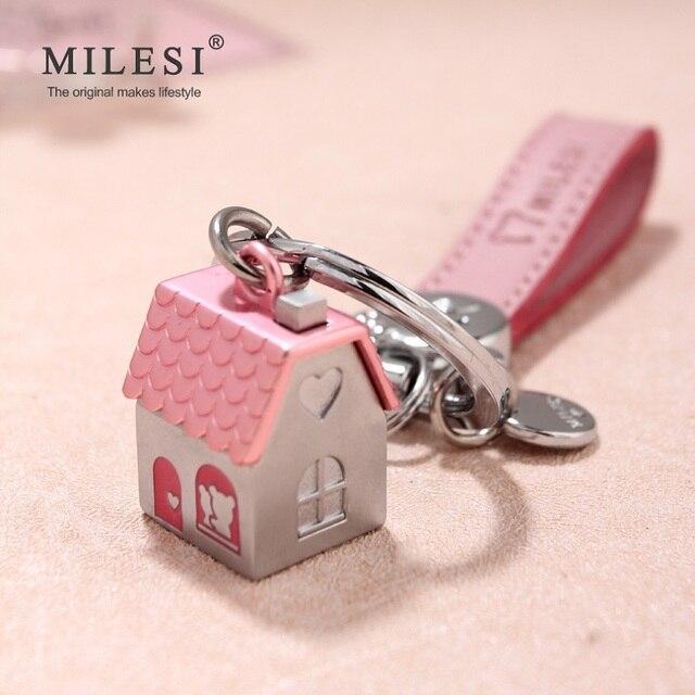 Milesi пары брелоков для ключей Дом автомобиль в форме брелок