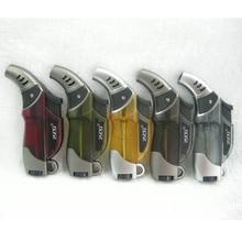 цена на Hot Compact Butane Jet Lighter Torch Lighter Gasoline Fire Windproof Spray Gun Metal Lighter 1300 C NO GAS Cigarette