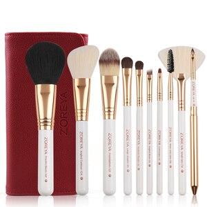 Image 2 - Zoreya ブランド 10 個メイクプロフェッショナル化粧用ブラシファンデーションはブラシセット最高品質!