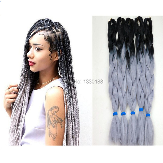 Exquisite box braids hairstyles to do yourself silver smoke style exquisite box braids hairstyles to do yourself silver smoke style 100gpack 24in ombre crochet solutioingenieria Image collections