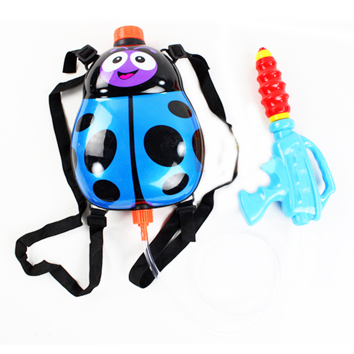 Kids Cute Ladybird Outdoor Super Soaker Blaster Backpack Pressure Squirt Pool Toy Gun Toy Fun Sports Summer Swimming Pool Battle