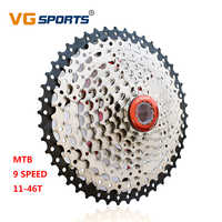 MTB 11-46T 9 speed cassette bicycle freewheel sprocket cdg 36T 9S mountain bike freewheel ultralight 410g silvery VG sports