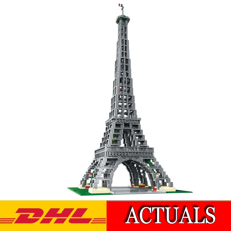 2018 New 3478Pcs City Creator Series The Eiffel Tower Model Building Kits Blocks Bricks Compatible Children Toys Gift 10181 wange 8011 new famous architecture series the kuala lampur petronas tower 3d model building blocks classic toys for children