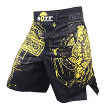 цена на New Yellow Azrael Breathable Sports Fitness Mma Fighting Boxing Shorts Tiger Muay Thai Boxing Shorts Mma Short Pretorian Boxeo