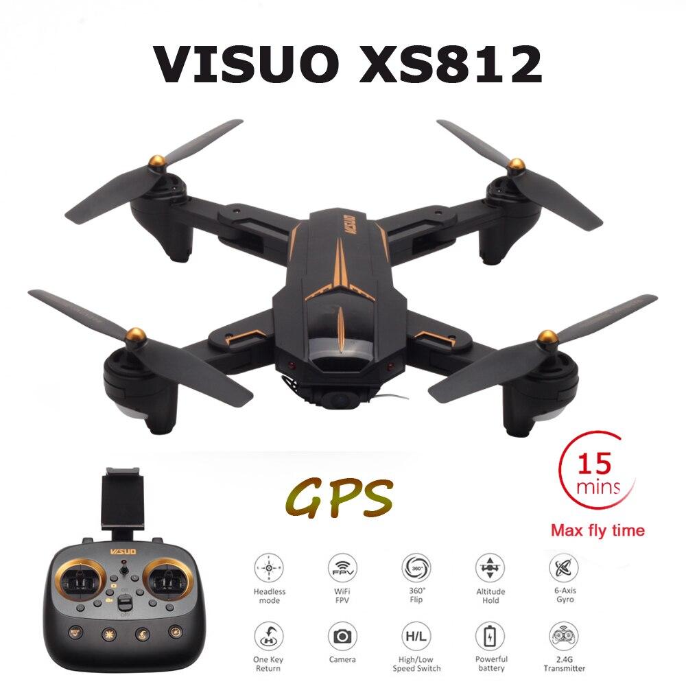 VISUO XS812 GPS RC Drone mit 4K HD Kamera 5G WIFI FPV Höhe Halten One Key Return RC quadcopter Hubschrauber Drohnen VS E520S