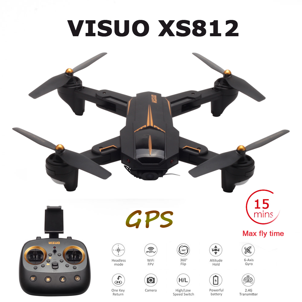 VISUO XS812 GPS RC Drone with 4K HD Camera 5G WIFI FPV Altitude Hold One Key Return RC Quadcopter Helicopter Drones VS E520S