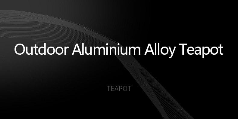 chaleira portátil alumínio pote alumina rígida pote