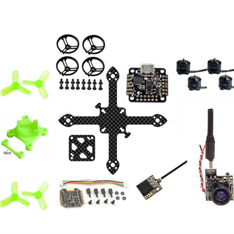 16mm x 16mm BNF 90mm pure carbon quadcopter frame kit for DIY FPV brushless micro indoor drone unassembled diy fpv mini drone qav210 quadcopter frame kit pure carbon frame cobra 2204 2300kv motor cobra 12a esc cc3d naze32 10dof
