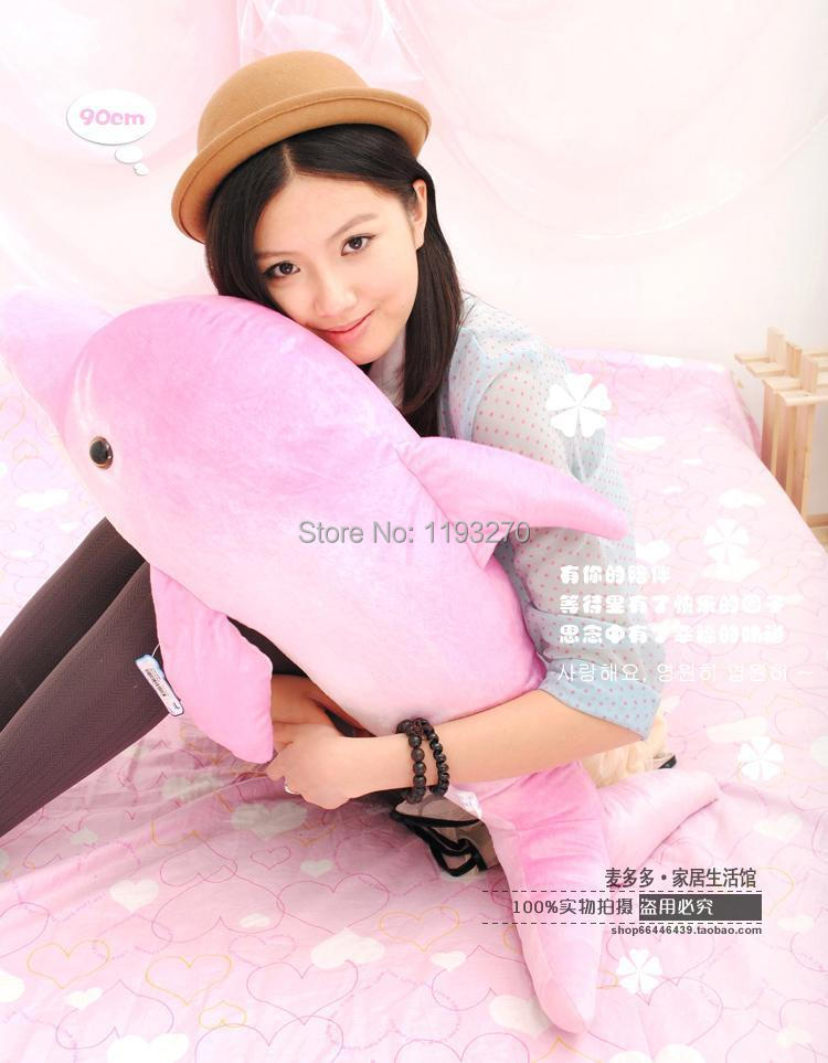 stuffed animal 120 cm dolphin plush toy pink or blue dolphin doll throw pillow w1573 stuffed animal 75 cm panda plush toy i love you red heart panda doll throw pillow gift w3501