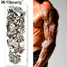 M-theory Long Sleeve 3d Makeup Temporary Magic Tattoos Sticker 3d Flash Tatoos Body Arts Tatouage Sticker