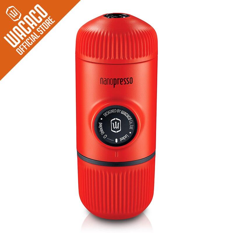 Wacaco Nanopresso Portable Espresso Coffee Maker Upgrade Version of Minipresso 18 Bar Pressure Red Patrol Edition